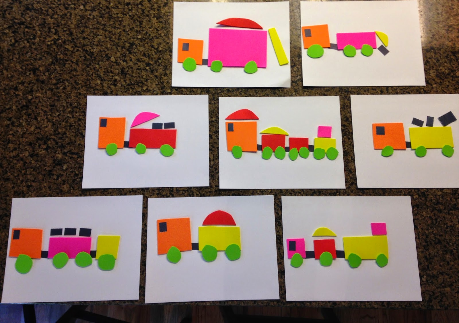 Transportation Vehicle Foam Paper Craft