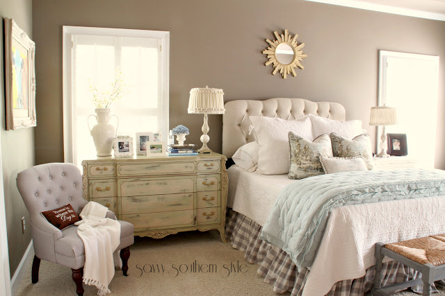 Savvy southern style musical chairs in the master bedroom for Southern style bedroom