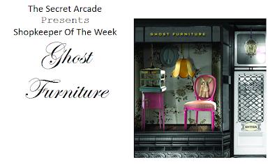 ghost furniture at the secret arcade