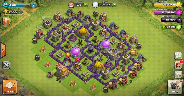 Design Farming Base Clash Of Clans TH 7