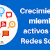 Crecimiento de miembros activos en las Redes Sociales
