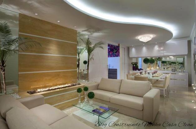 Construindo minha casa clean 21 salas integradas pequenas for Mesas industriales baratas