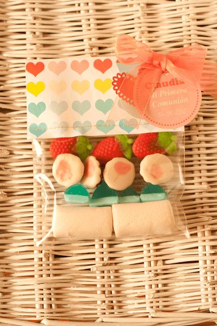 paquete de golosinas para los niños invitados