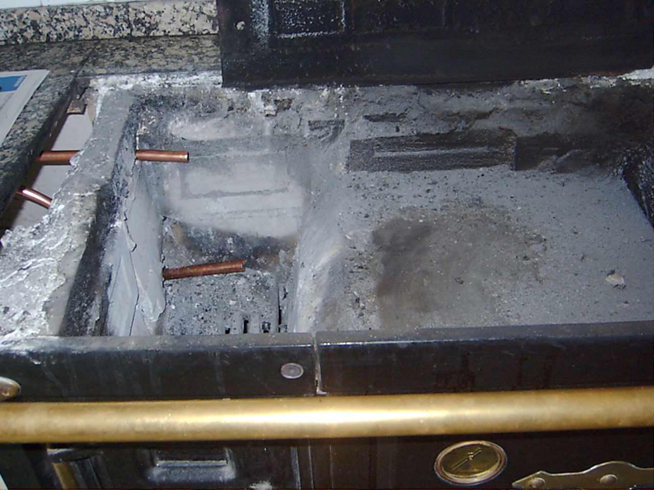 Calentador de agua artesanal a le a - Como colocar una chimenea de lena ...
