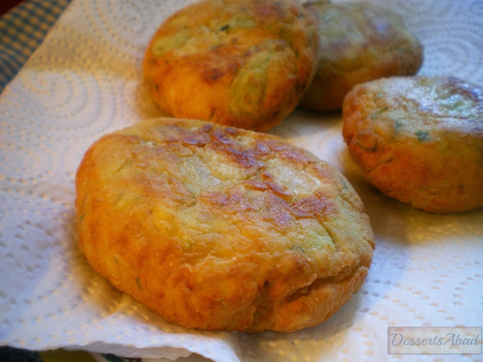 Hamburguesas de calabacín (Fritas)
