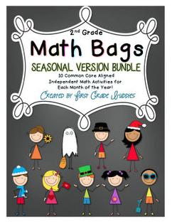 http://www.teacherspayteachers.com/Product/Math-Bags-for-2nd-Grade-Seasonal-Bundle-1186257