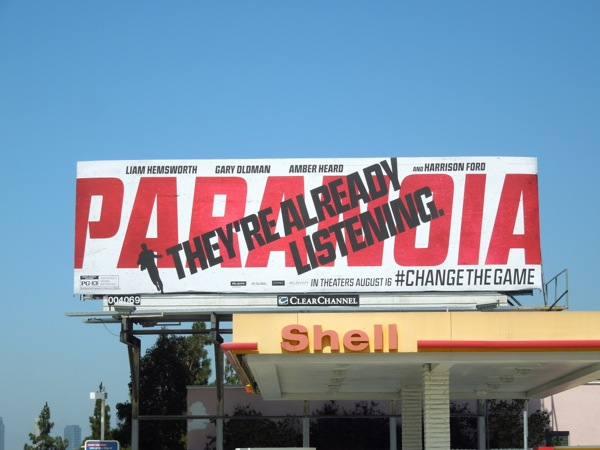 Paranoia Already Listening movie billboard