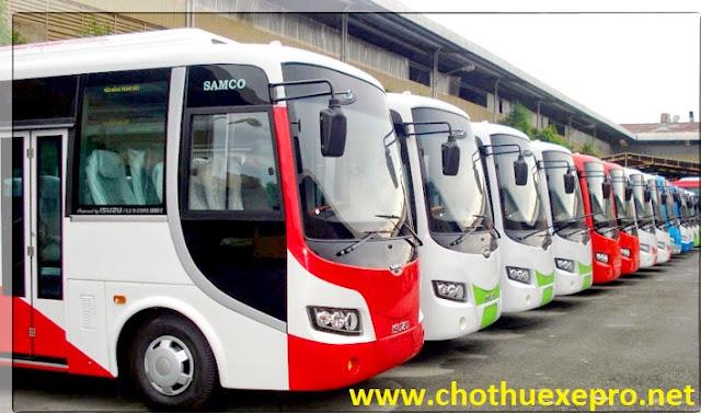 Cho thuê xe 35 chỗ Isuzu Samco giá rẻ tại Hà Nội