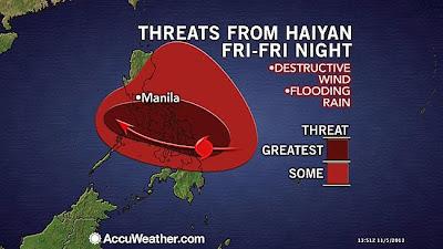 TIFON HAIYAN GRAVE AMENAZA PARA FILIPINAS