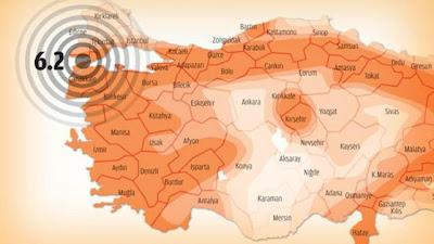 EPICENTRO TERREMOTO 6,2 GRADOS, TURQUIA, 08 DE ENERO 2013