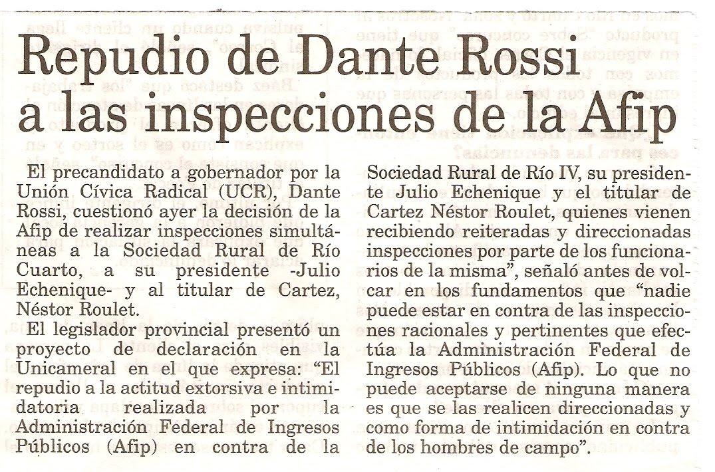Dante Rossi: Diario Puntal de Río Cuarto