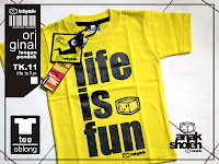 kaos anak life is fun