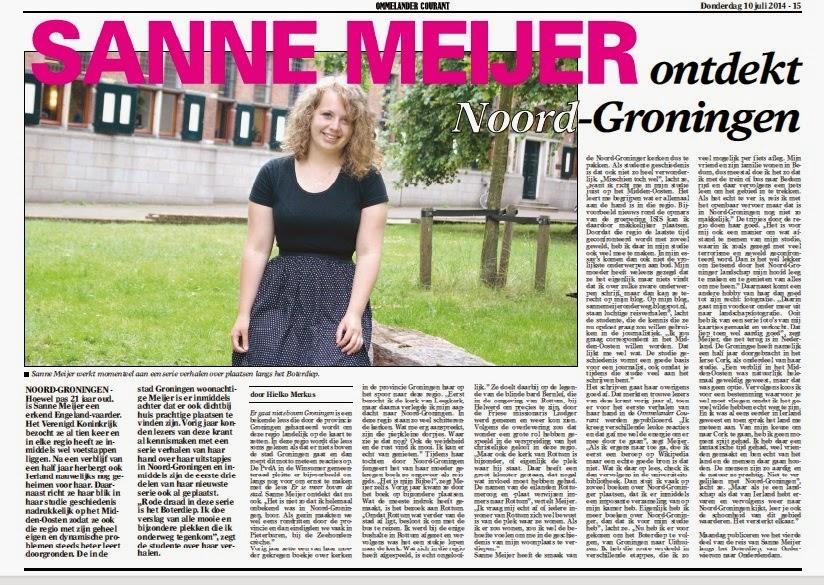 ''Sanne Meijer ontdekt Noord-Groningen''