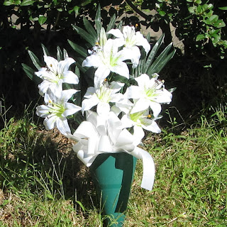 Buy a White Lilies Cemetery Cone