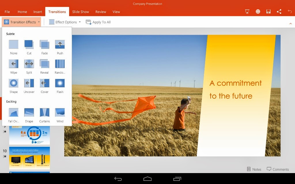 MS Office for Android tablets now in preview mode, also updates iPhone and iPad apps