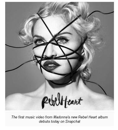 Debut Video Klip Terbaru, Madonna Gunakan Snapchat
