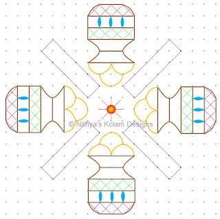 4 Pongal kolam 19 x 19 dots