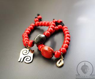 african wood beaded bracelets