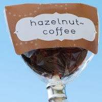 Hazelnut-Coffee Lollipops
