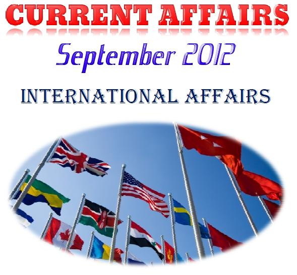 Current Affairs Free Download for September 2012 Month
