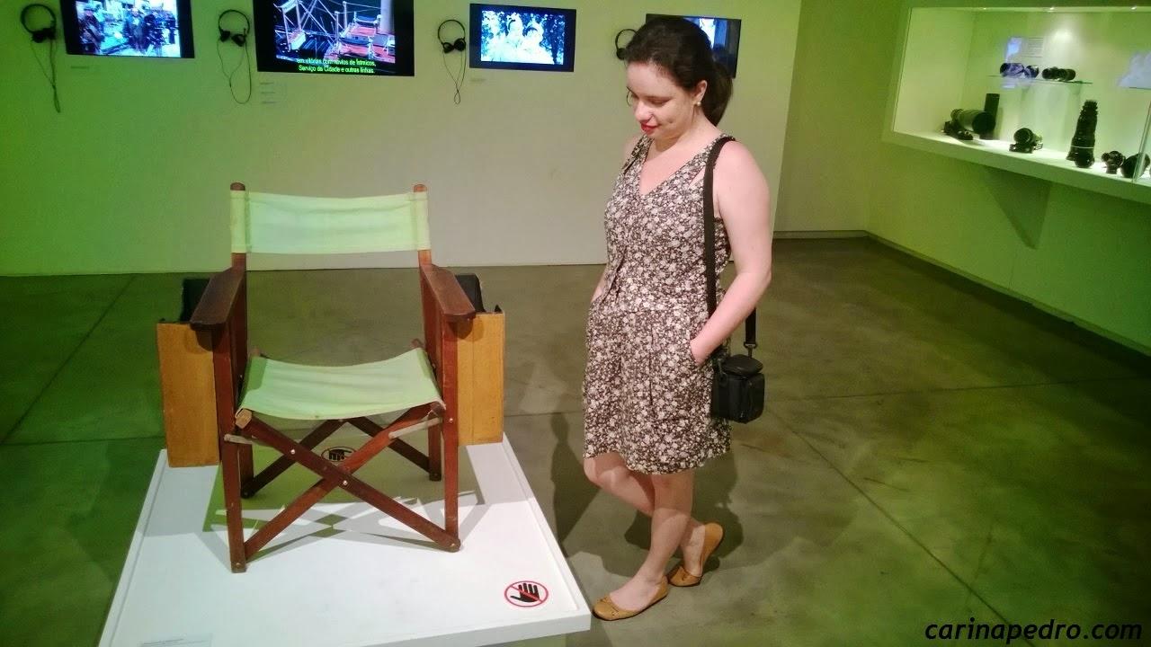 "Carina Pedro na Exposição ""Stanley Kubrick"" no MIS-SP (2014)"
