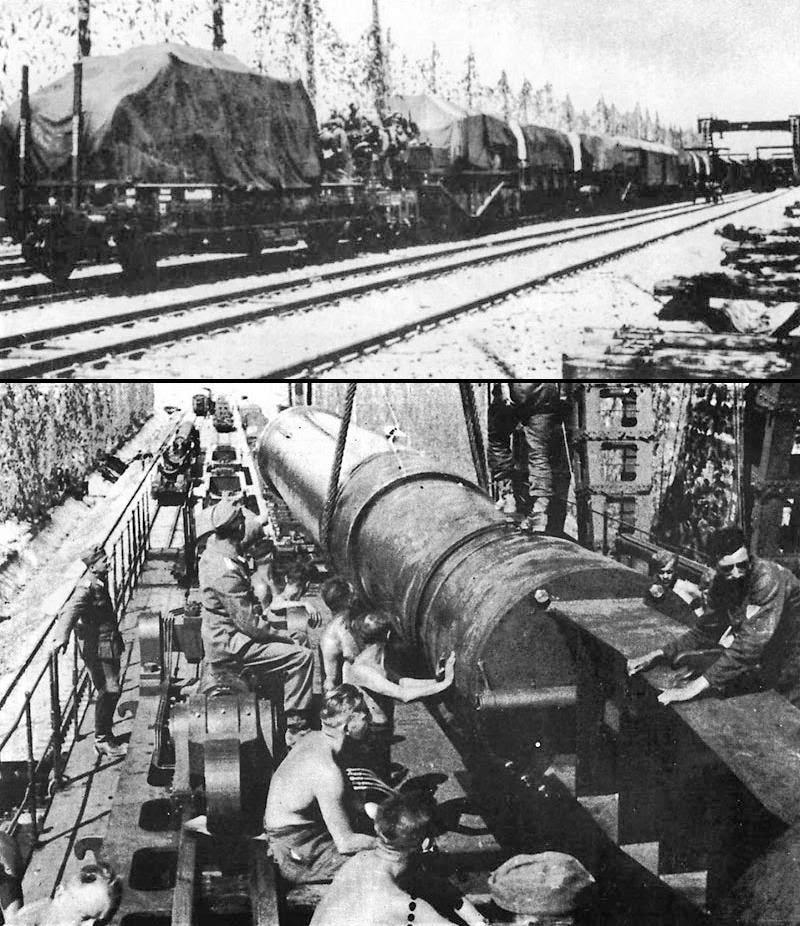 Транспортировка орудия Дора