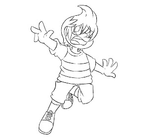 #4 Lucas Coloring Page