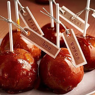Halloween Toffee Apples
