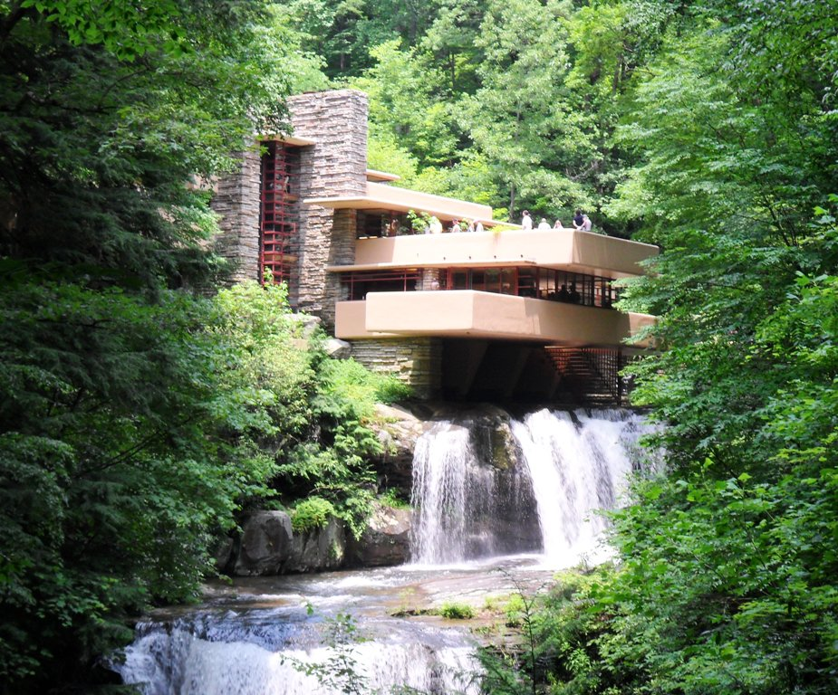 Seen from the outside, Fallingwater is awesome indeed. But being ...