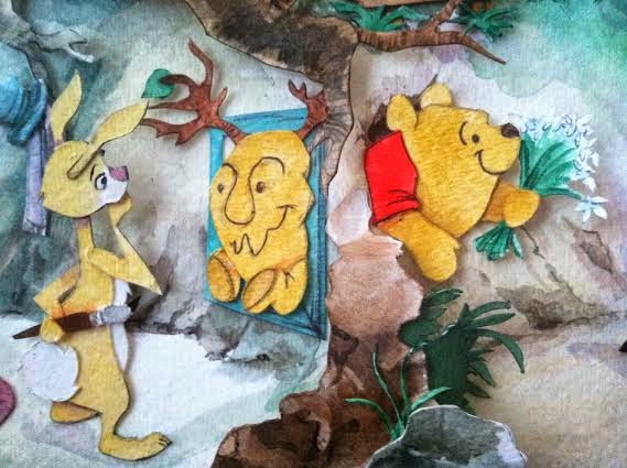 winnie the pooh and the honey tree stuck in rabbits hole