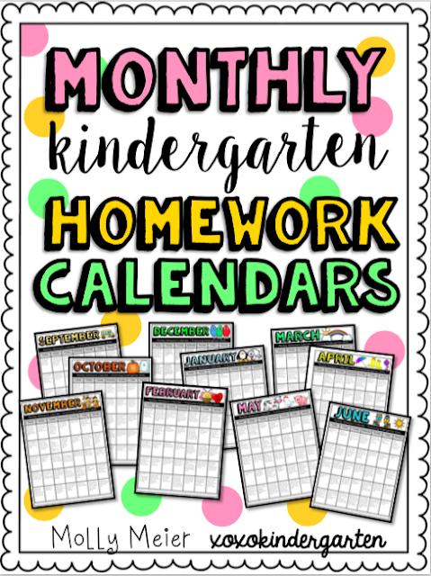 June Calendar Writing Prompts : Teacher designs kindergarten homework calendars
