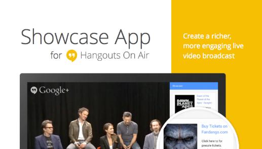 Hangouts Showcase App