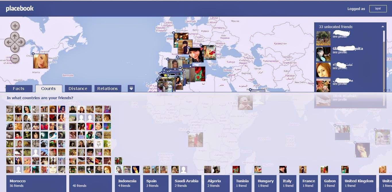 تعرف عبر موقع placebook على مكان أصدقاءك على الفيسبوك وتموقعهم على الخريطة Hooo