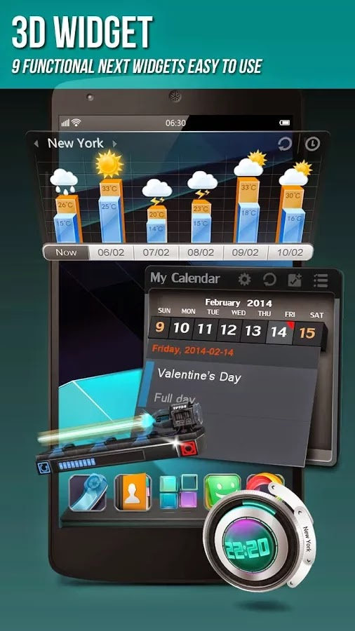Next Launcher 3D Shell v3.12 Patched APK FULL Y GRATIS