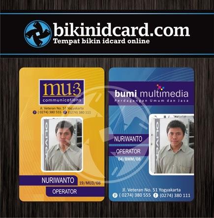 cetak id card pegawai percetakan