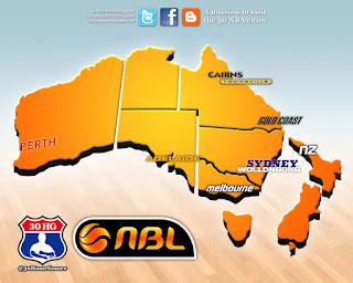 nbl, sydney, melbourne, map