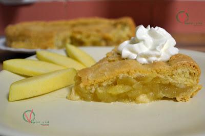 Tarta de compota de manzana.