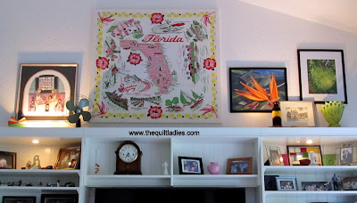 Tutorial how to take a vintage tablecloth and made it wall art