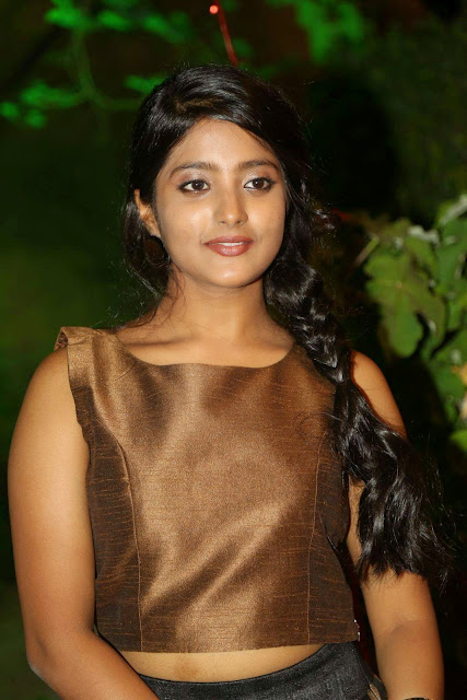 Ulka Gupta Stills At Andhra Pori Movie Audio Launch