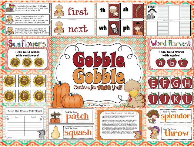 http://www.teacherspayteachers.com/Product/Gobble-Gobble-Centers-for-Fall-Yall-397862