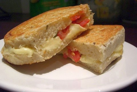 Toasted Sandwich With Bocconcini Mozzarella And Cherry Tomatoes