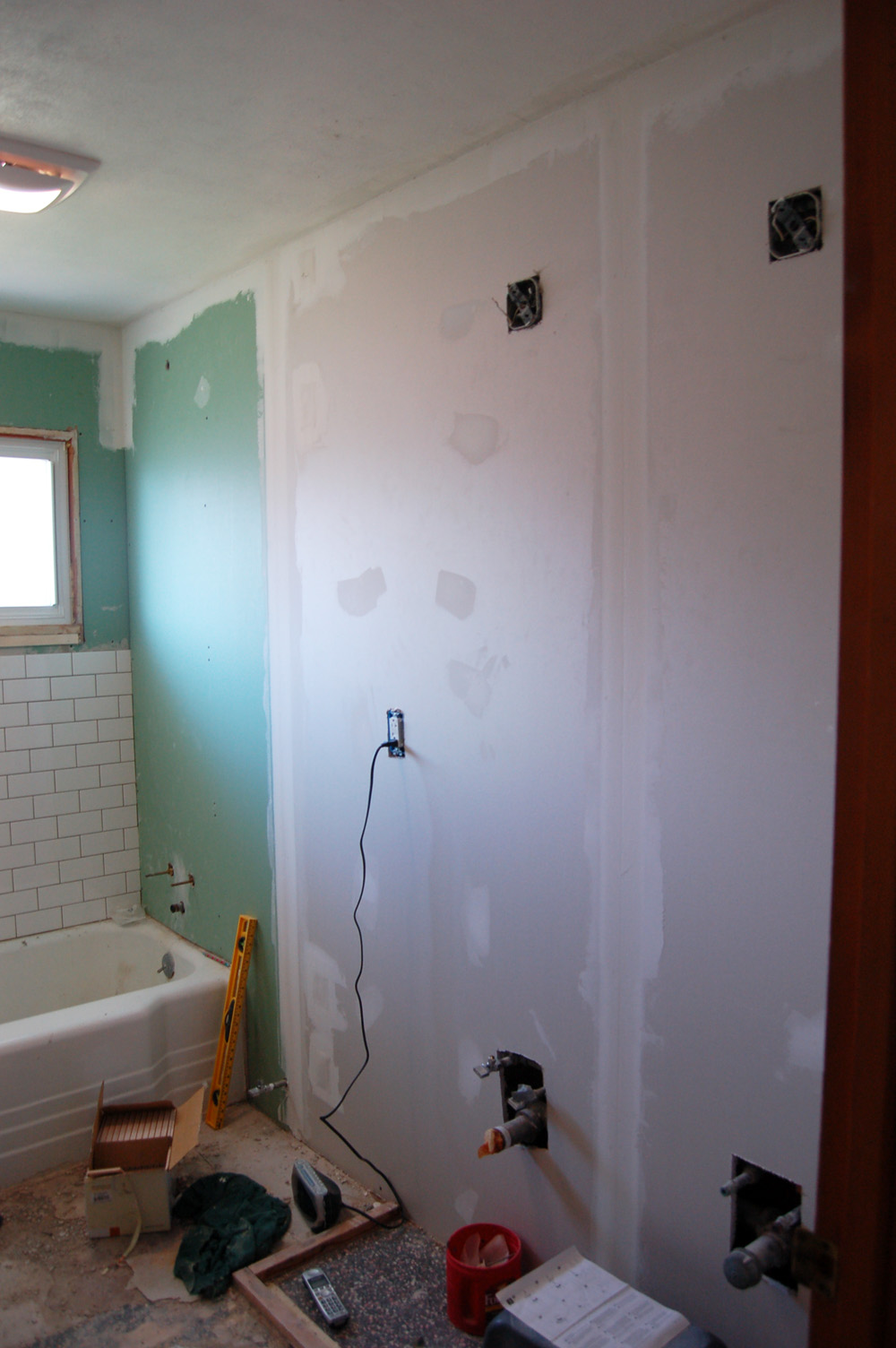 The Almost Perfectionist The Bathroom - Green board in bathroom