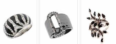 anillos originales plateados