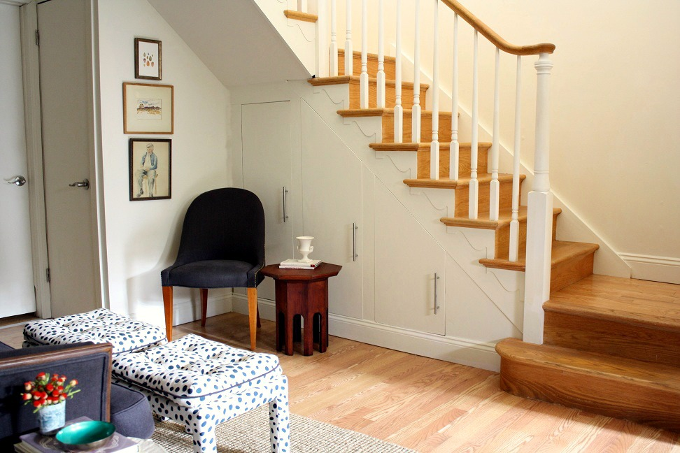 Meet me in philadelphia under the stairs built in storage for Under the stairs cabinet