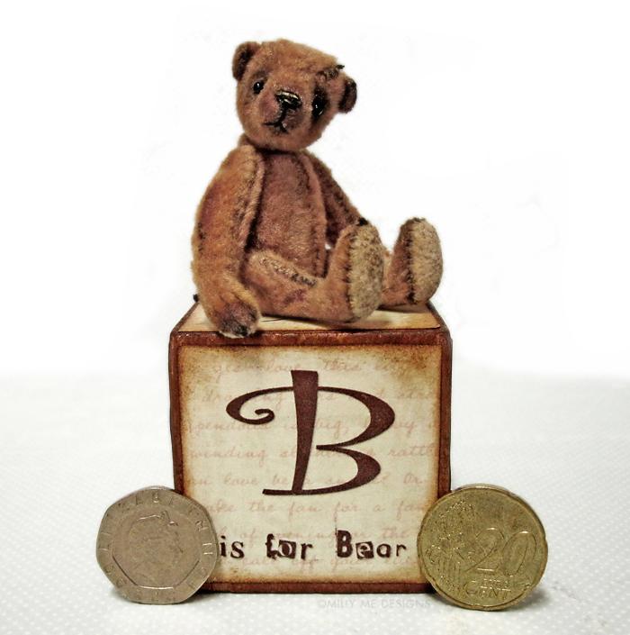 miniature teddy bear, viscose mohair