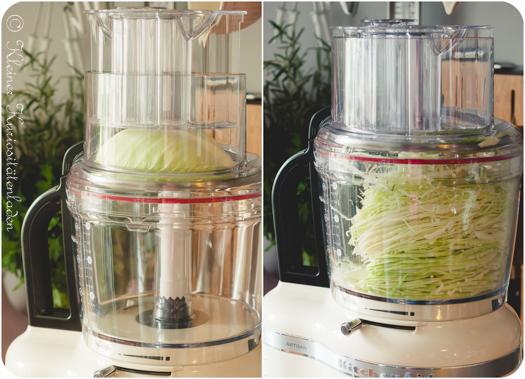 küchenmaschine weißkohl