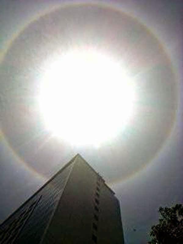 sun halo taken near marco polo davao