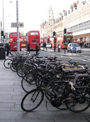 Bikes parked in Brixton on lambethcyclists.org.uk