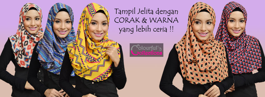 Colourful Collections: Tudung, Syria, Shawls, Pashmina & Inner