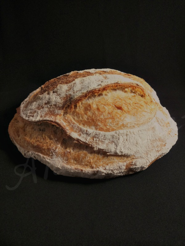pane al kamut e farina tipo 1  con esubero di lievito madre ( ma anche no) 80% idratazione